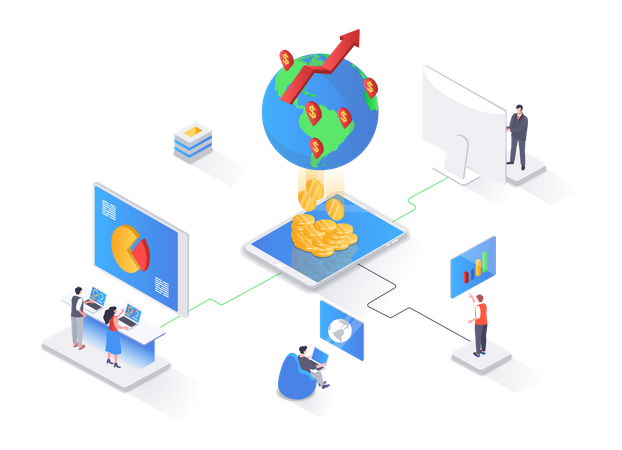 Global business strategy Illustration