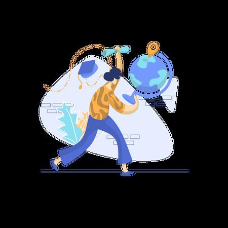 Global education Illustration