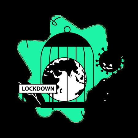 Global lockdown Illustration
