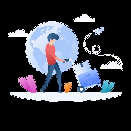 Global Shipping Illustration