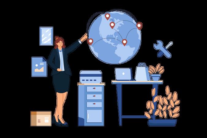 Global Transfer Service Illustration