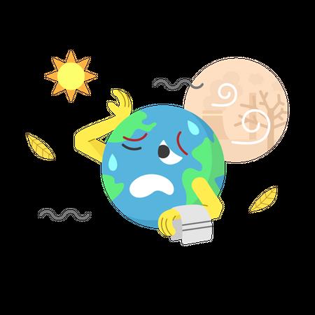 Global warming Illustration