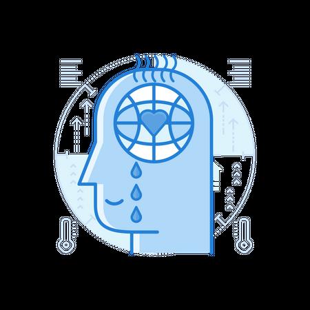 Global Warming Awareness Illustration