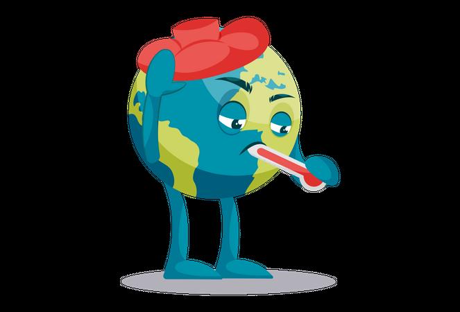Global warming concept Illustration