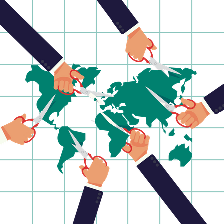 Global wealth and sphere of influence redistribution Illustration