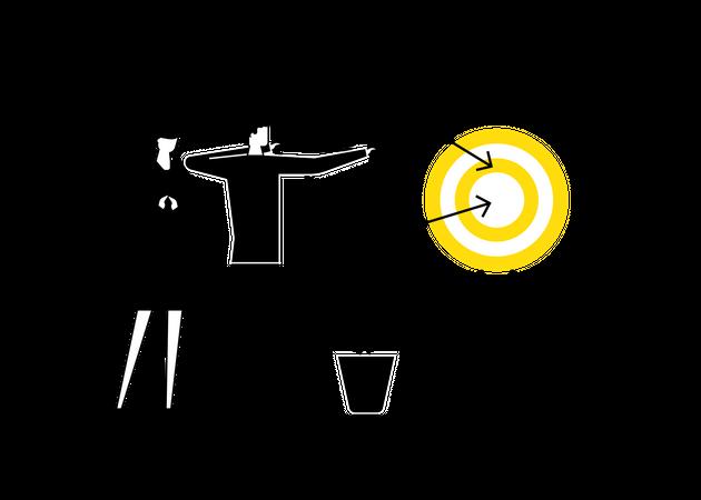 Goal achievement Illustration