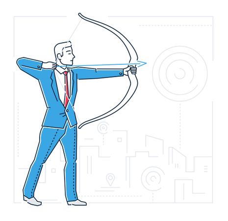 Goals Setting Concept Illustration