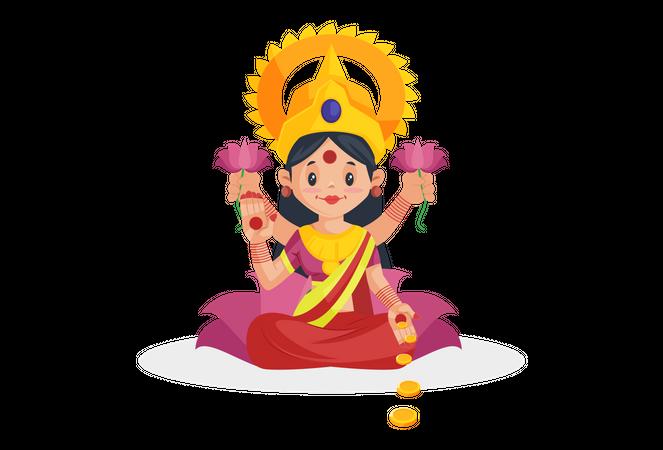 Goddess Laxmi Illustration