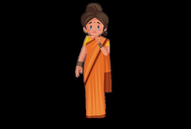 Goddesses Sita crying Illustration