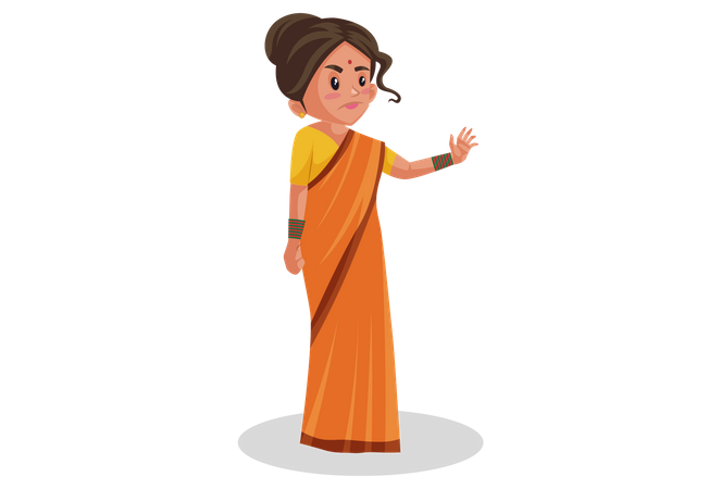 Goddesses Sita showing stop gesture Illustration