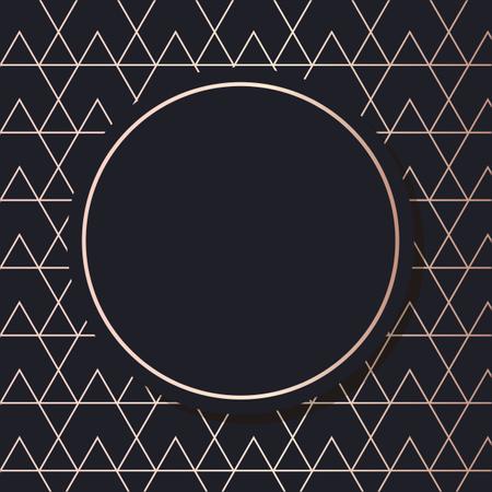 Golden Frame pattern art vector Geometric elegant background cover card Illustration