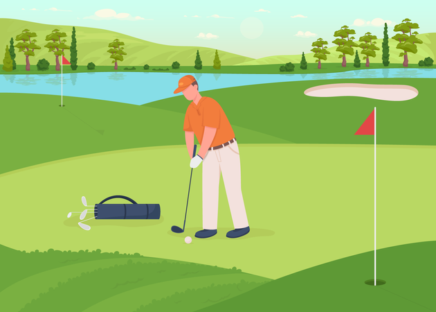 Golf game Illustration
