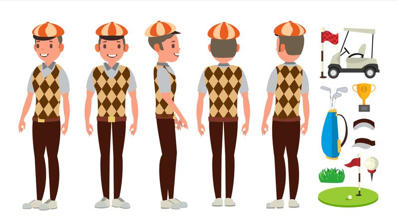 Golf Player Vector Illustration