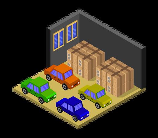 Goods Warehouse Illustration