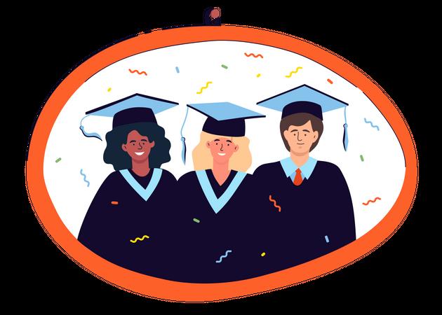 Graduation photo Illustration