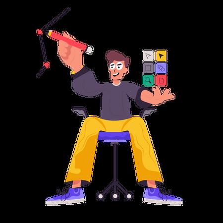 Graphic Designer Illustration