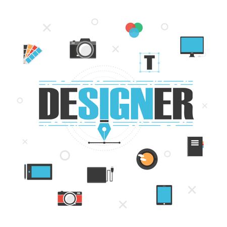 Graphic Designer Gadget Illustration