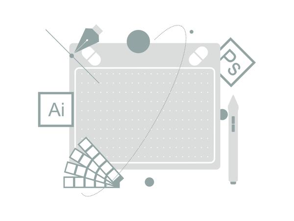 Graphic Designer Tool Illustration