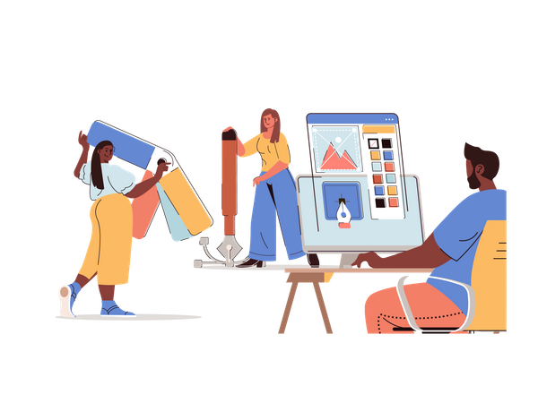 Graphic Designing Illustration