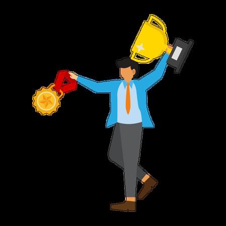 Great employees get rewarded Illustration