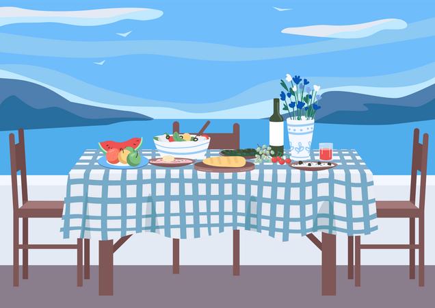 Greek banquet Illustration