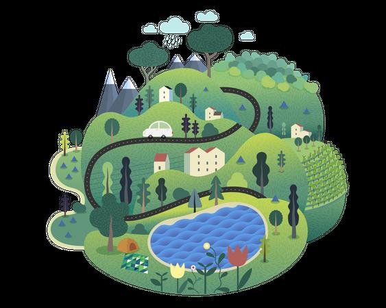 Green island Illustration