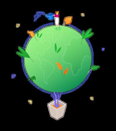 Green planet Illustration