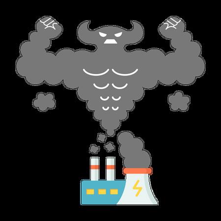 Greenhouse gas emissions Illustration