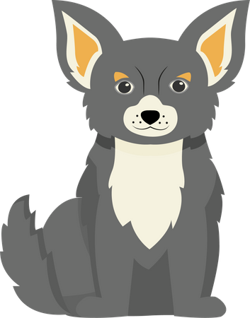 Grey terrier Illustration