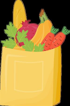 Grocery bag Illustration