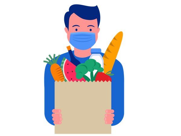 Grocery delivery Illustration