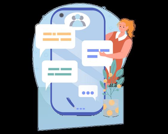 Group Chat Illustration