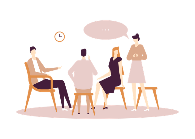 Group discussion Illustration