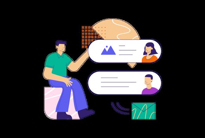 Group Messaging Illustration