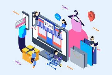 E Commerce Illustration Pack