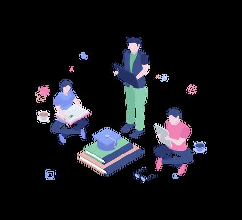 Group study Illustration