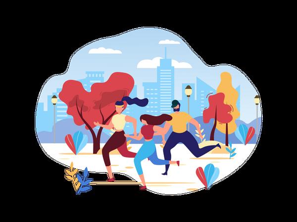 Group Training Illustration