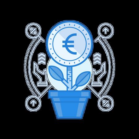 Grow Euro Illustration