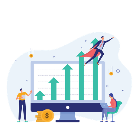 Grow your business Illustration