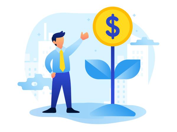 Growing Business Illustration