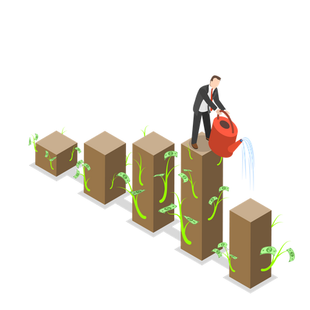 Growing Investment Illustration