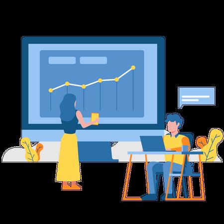 Growth Analytics Illustration