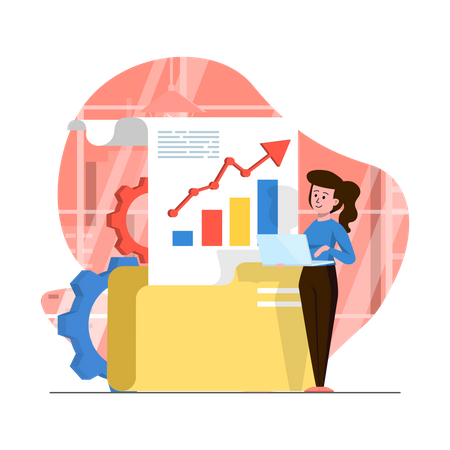 Growth Analytics and management Illustration