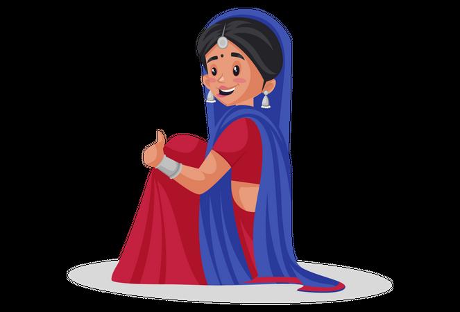 Gujarati woman Illustration