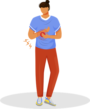 Guy with arm pain Illustration