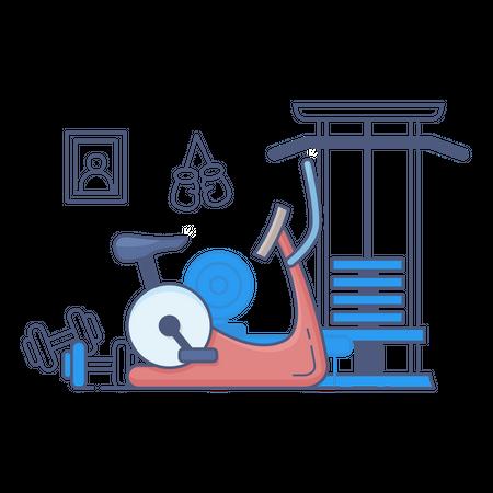 Gym cycle Illustration