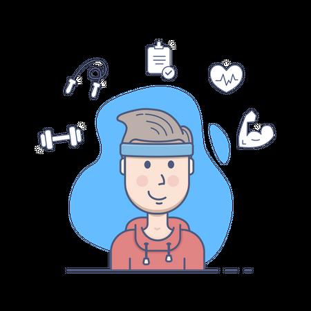 Gym guy Illustration