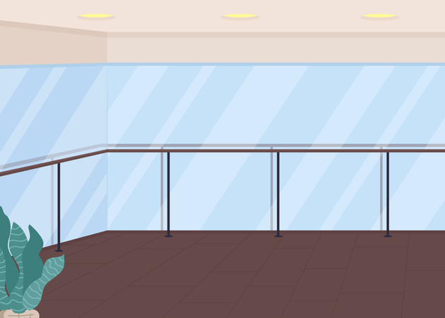 Gym space for aerobics class Illustration