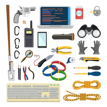 Hacker Accessories Illustration