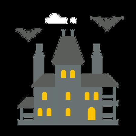 Halloween house Illustration
